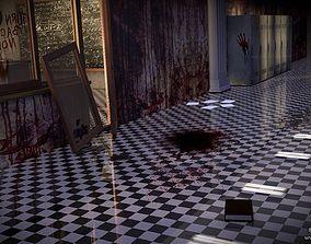 3D model School Locker Horror sceen