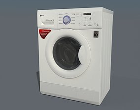 VR / AR ready 3D model LG FH0C3LD Washing mashine