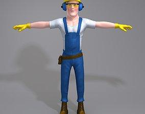 3D physical Cartoon Worker