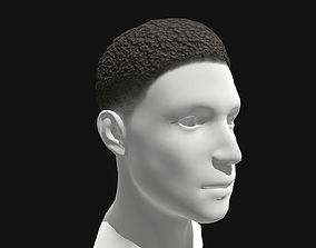 3D asset Male Short Afro Hairstyles