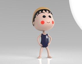 3D printable model Chibi Maruko Chan Swimming Time