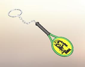3D print model Rafael Nadal Tennis Keychain