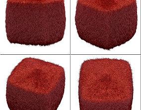3D Galaxy red pouf