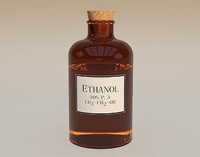 3D Vial-Ethanol-Bottle