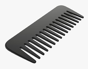 3D model Plastic hair comb type 1