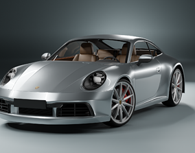 3D asset Porshe 911 carrera s coupe 2019 MODEL