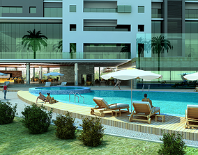 GHT The Swimming pool and the Bar 3D model