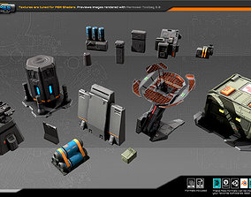 RTS Modulars and Props 3D asset