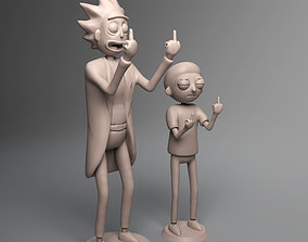 3D print model Rick and Morty Middle Finger Up
