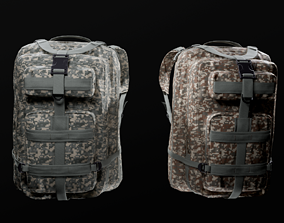 customizable Military backpack 2 color variations 3D asset