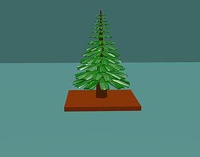 Pine Tree lowpoly 3D model