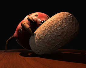 Worker Insect guarding an egg 3D model