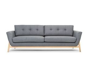 helgrim 3 seater sofa grey 3D