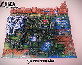 3D print model Zelda Link s Awakening map