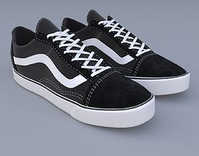 3D vans old skool black
