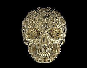 skeleton skull ring 3D print model