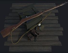 3D asset Mosin Nagant M1891-30 PBR and Game-Ready