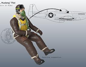 P-51 Mustang Pilot 3D print model