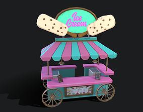 3D model Ice Cream Wagon