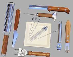 Bartender Tools Set 07 3D model