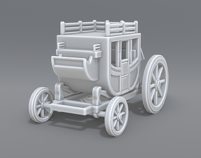 Stage coach 3D printable model
