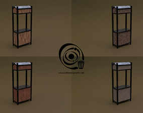 3D asset Trade stand 10 4in1 R - 4 PBR Texture 1 Model