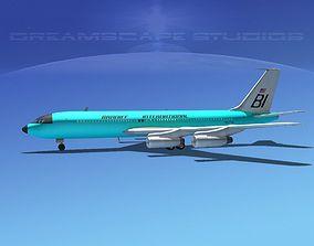 3D Boeing 707 Braniff