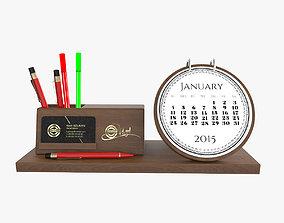 3D Wooden Desktop Calendar
