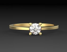 solitaire ring model with one gem diamond