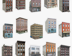 15 Apartment Building Collection 3 3D asset realtime