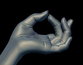 high poly digital hand of the human 3D printable model