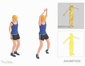3D asset Jumping Jacks Exercise woman Animation