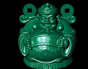 free 3D print model God of wealth