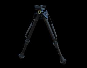 Bipod 3D asset low-poly