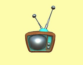 3D model Cartoon Wood Tv
