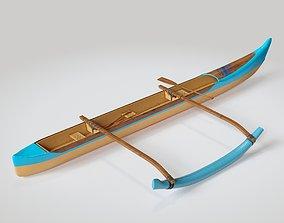 3D model Paddle Hawaiian Outrigger Canoe