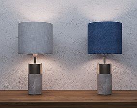 3D model FINLEY CEMENT AND COPPER TABLE LAMP WIREFRAME