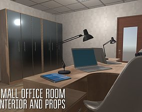 3D asset Small office room - interior and props