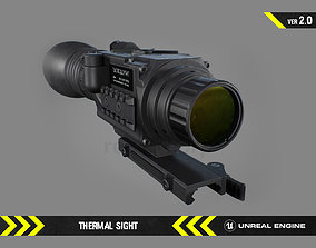 Thermal Sight - FPS Gun Attachment for Unreal 3D asset