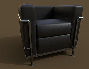 LC2 Armchair by Le Corbusier 3D model