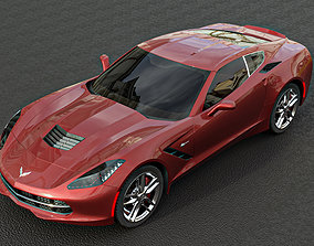 muscle-car corvette 3d model