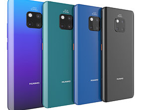 Huawei mate 20 pro all color 3D model