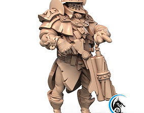 Pre-supported 3D printable model of Sergeant