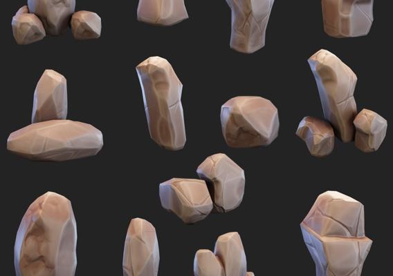 Stylized rocks (pack)