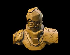 3D printable model Cyberpunk Security Guard Bust