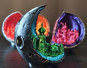 Moon City - multipart lamp edition 3D printable model