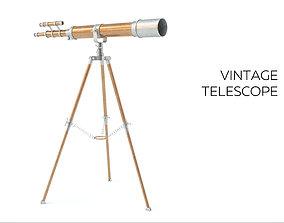 3D model rigged Vintage Telescope