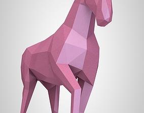 lowpoly Horse 3D print model