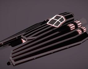 3D model VR / AR ready IF-420 Interceptor Fighter