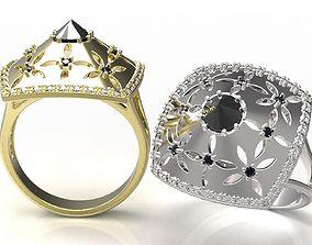 ring diamond 3D print model Ring